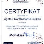 Certyfikat MonaLisa Touch – Agata Kassassir